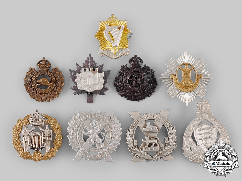 eMedals-Canada, United Kingdom, Jamaica. Nine First and Second War Badges