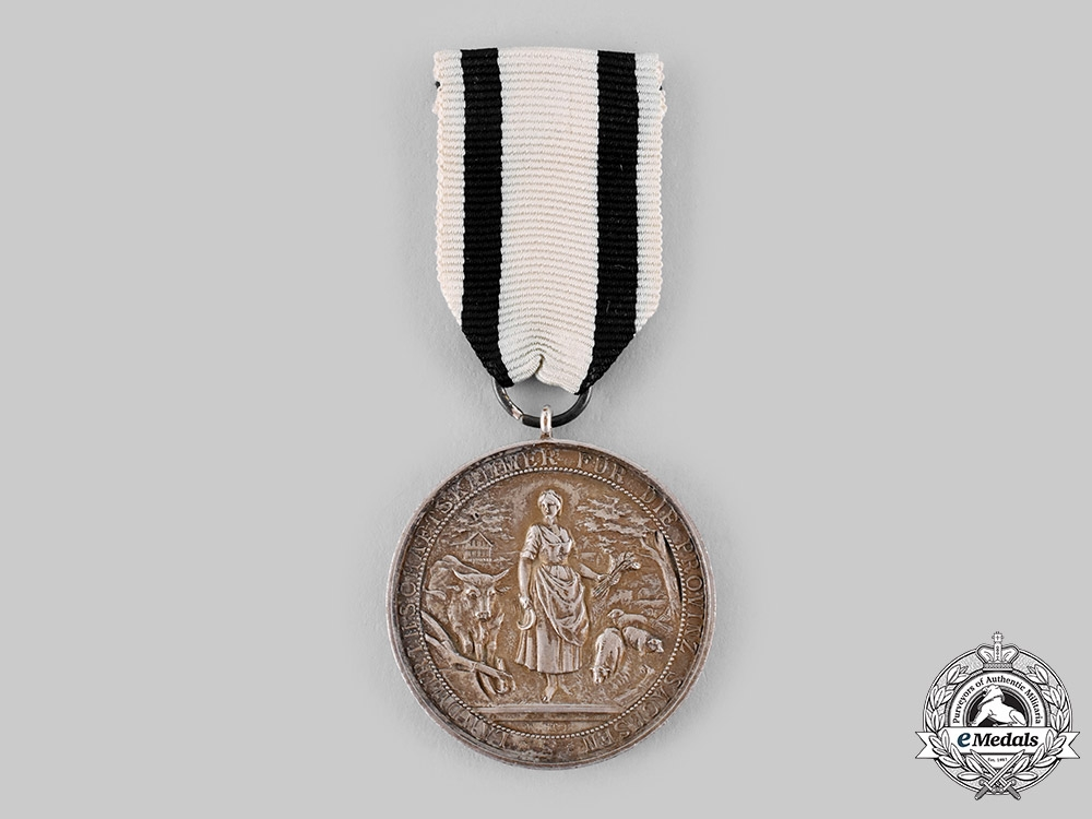 eMedals-Saxony, Kingdom. An Agricultural Long Service Medal, by L. Christian Lauer