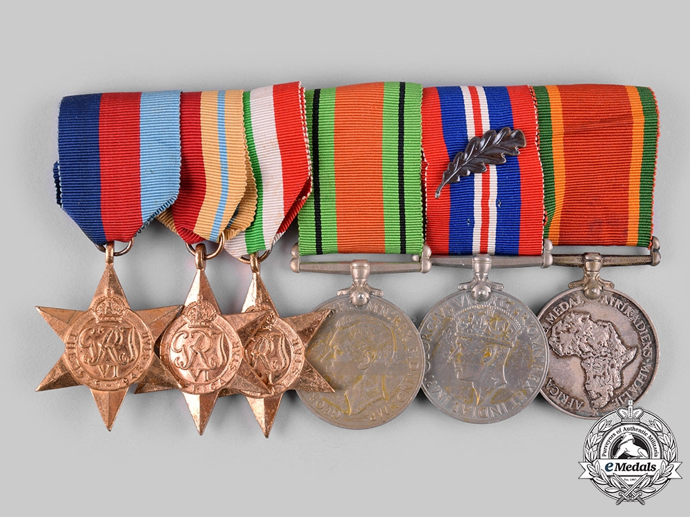 eMedals-South Africa, Commonwealth. A Second War Italian Campaign Group of Six