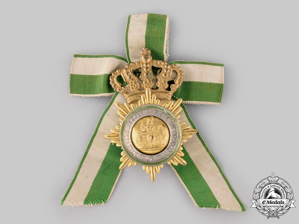 eMedals-Saxony, Kingdom. A Veteran's Military Association Members Badge, c.1900