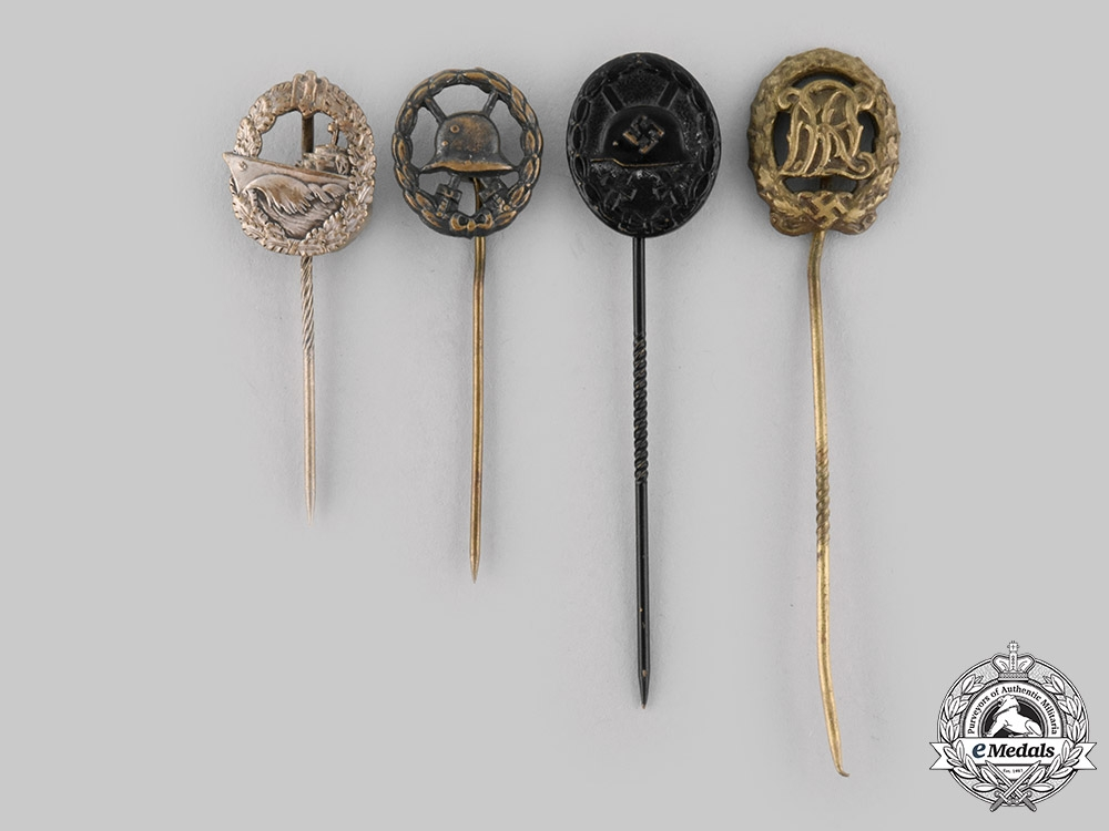 eMedals-Germany, Third Reich. A Lot of Third Reich Period Stick Pins