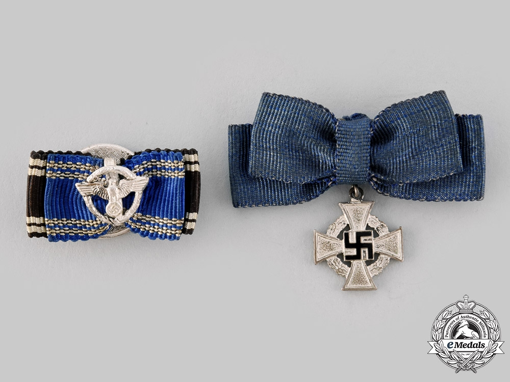 eMedals-Germany, Third Reich. A Pair of Miniature Long Service Awards