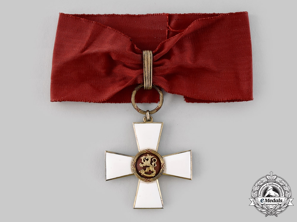eMedals-Finland, Republic. An Order of the Lion, Commander I Class Cross, c.1954