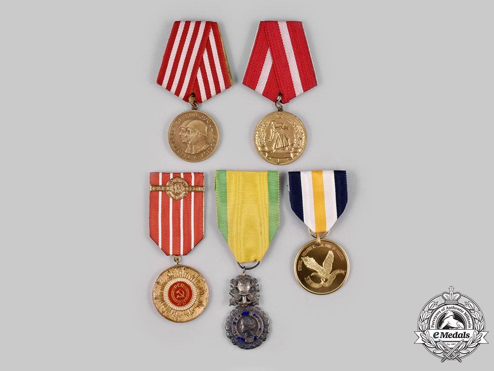 eMedals-Bulgaria, France, Romania, United States. Five Medals