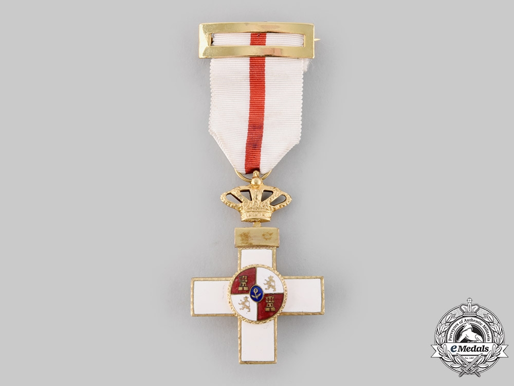 eMedals-Spain, Fascist State. An Order of Military Merit, Cross with White Distinction, c.1940