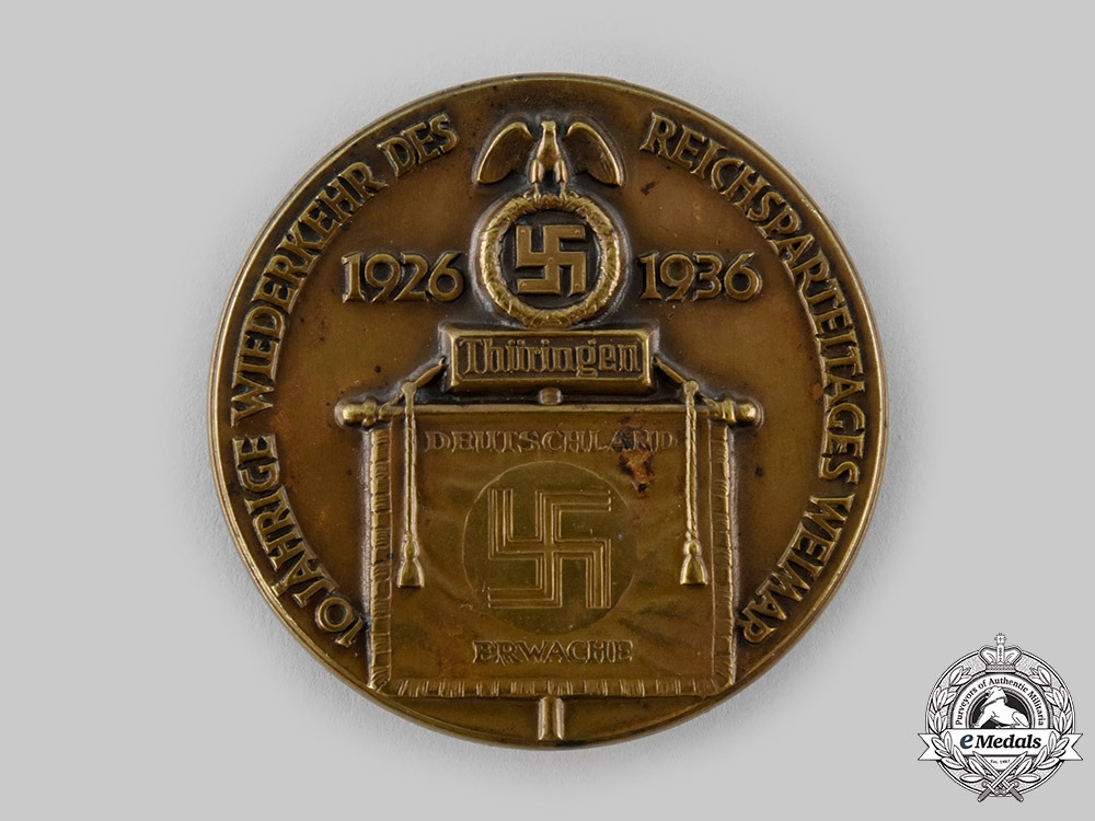eMedals-Germany, NSDAP. A Weimar Rally 10th Anniversary Badge