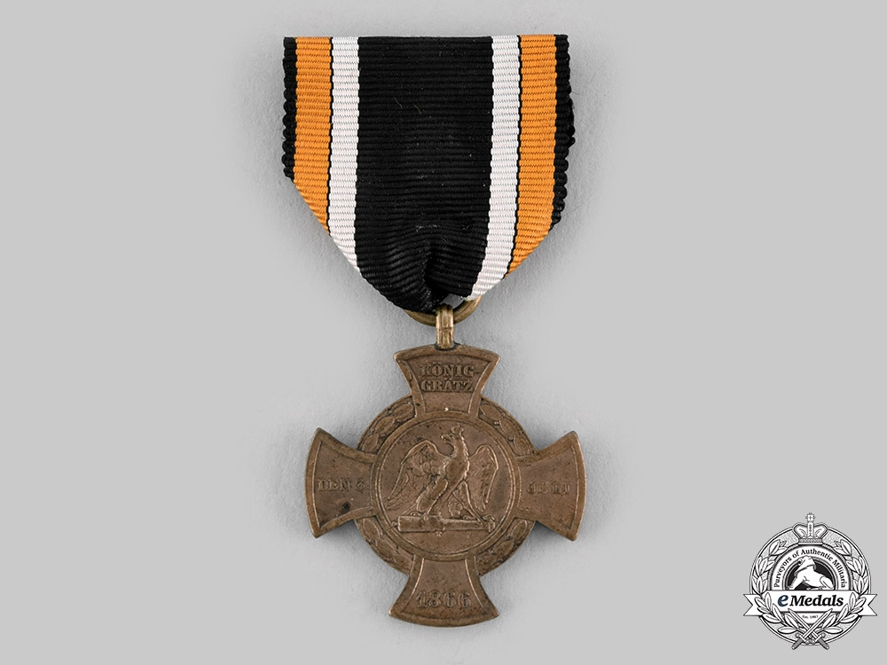 eMedals-Prussia, Kingdom. A Commemorative Koniggratz Cross, c.1866