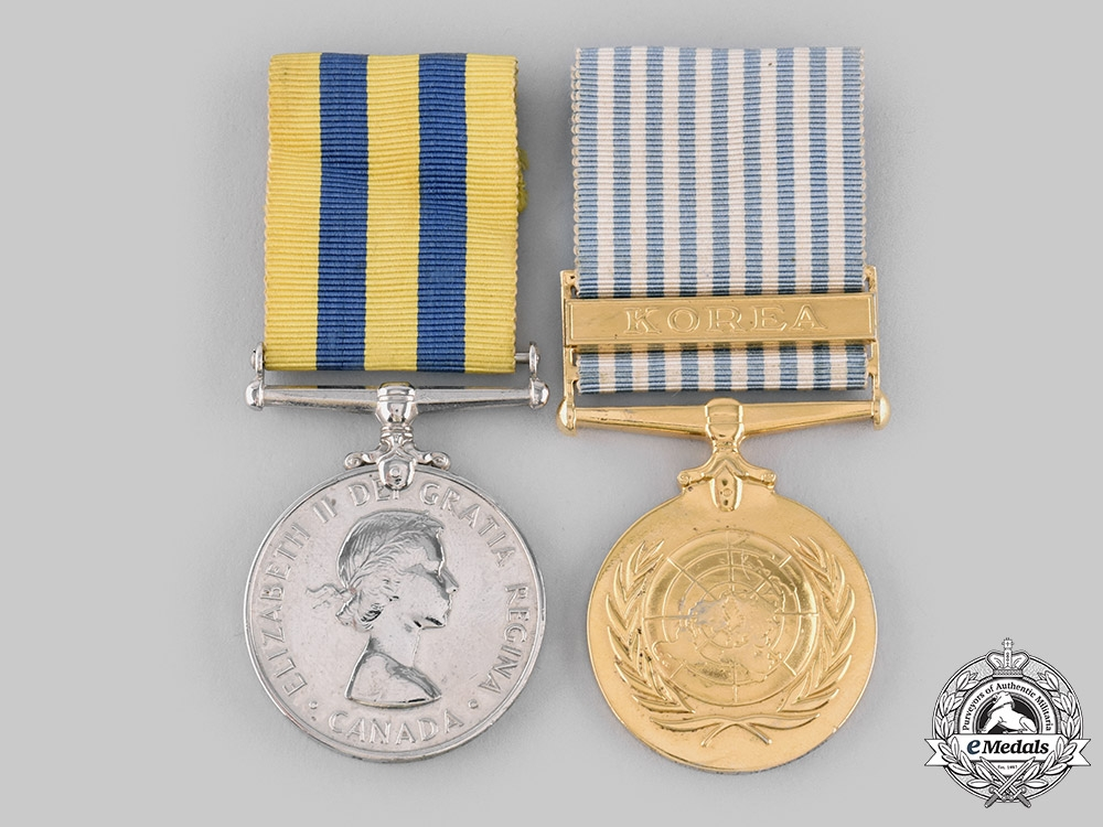 eMedals-Canada, Commonwealth. A Korean Conflict Pair, to N.J  McPherson