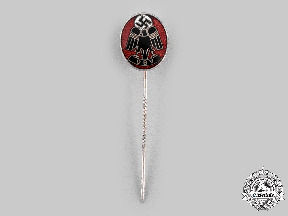 eMedals-Germany, Third Reich. A German Government Employees (DBV) Membership Stick Pin