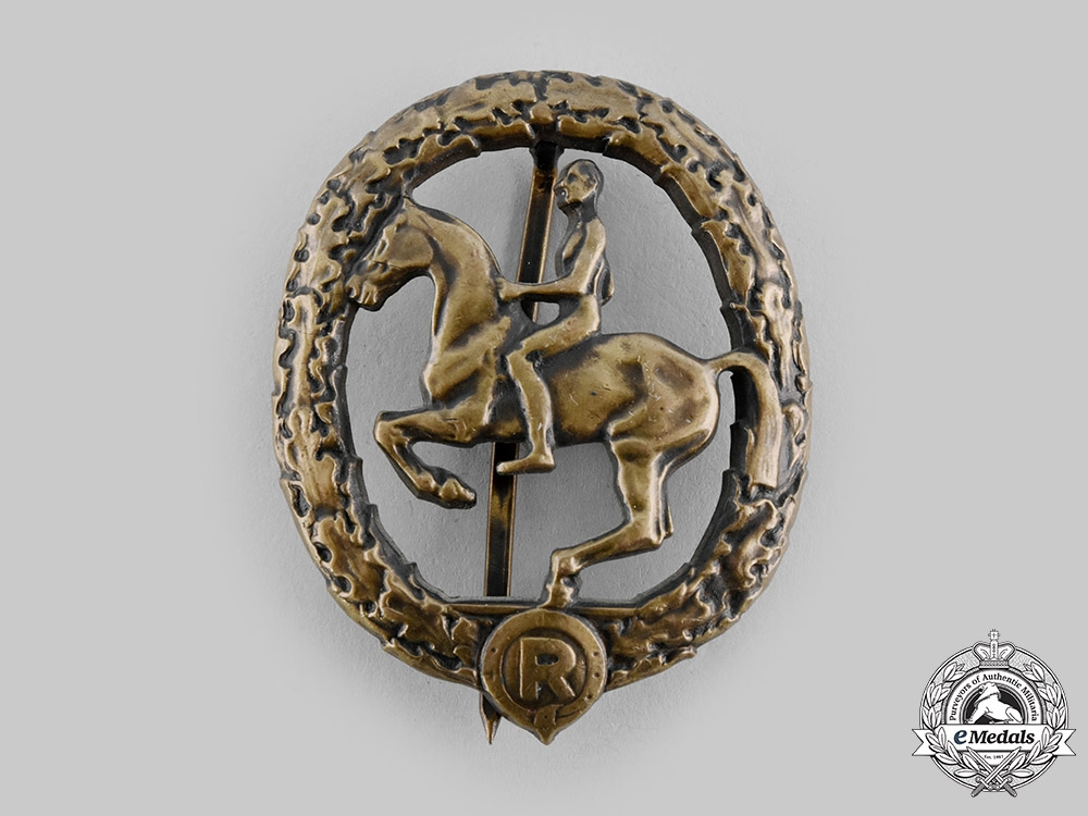 eMedals-Germany, Third Reich. An Equestrian Badge, III Class in Bronze, by L. Christian Lauer