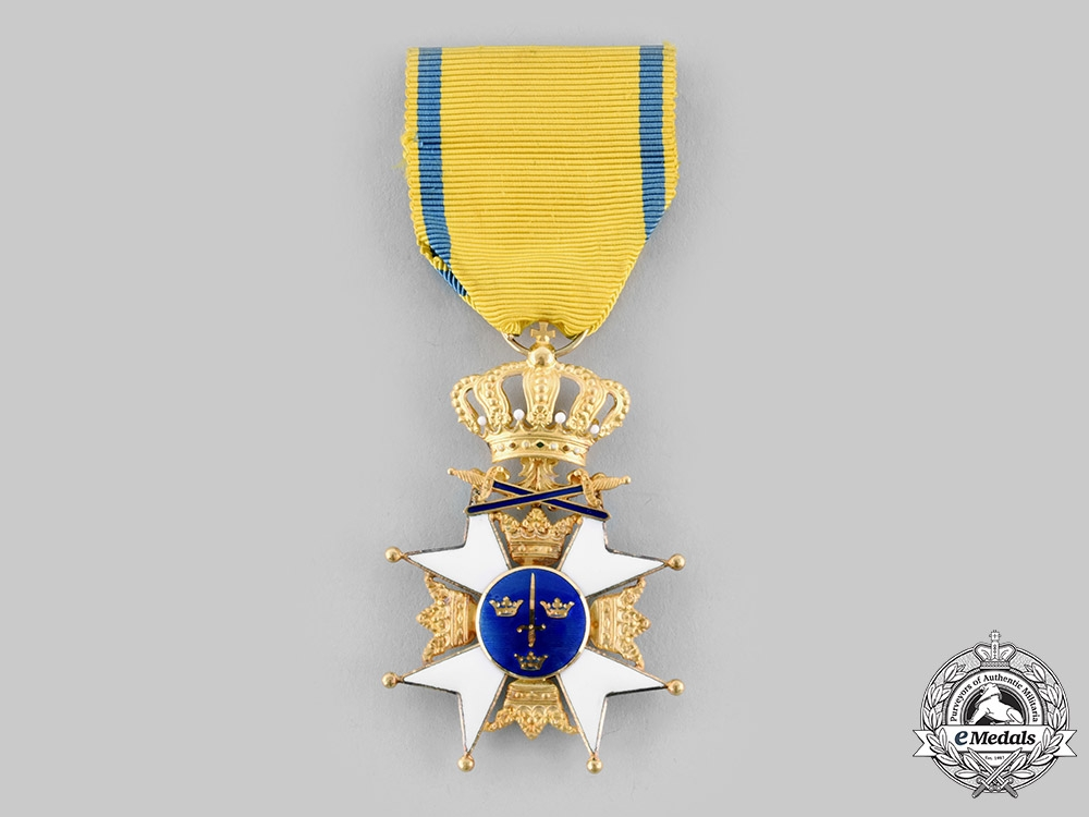 eMedals-Sweden, Kingdom. An Order of the Sword, I Class Knight in Gold, by C.F Carlman, c.1960