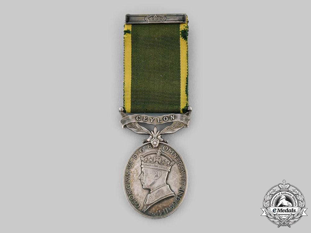 eMedals-United Kingdom. An Efficiency Medal, Ceylon Light Infantry