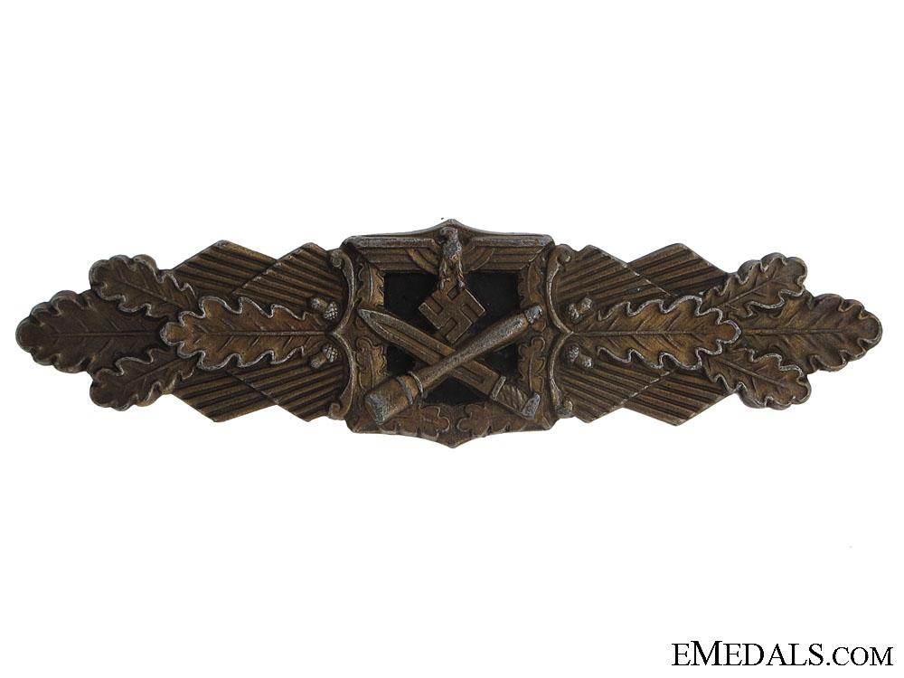 eMedals-Close Combat Clasp in Bronze - Juncker