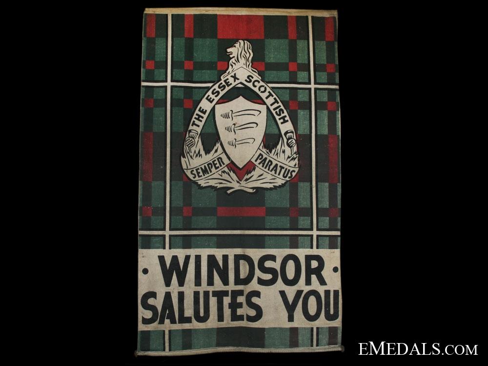 eMedals-The Essex Scottish Regimental Departure Banner