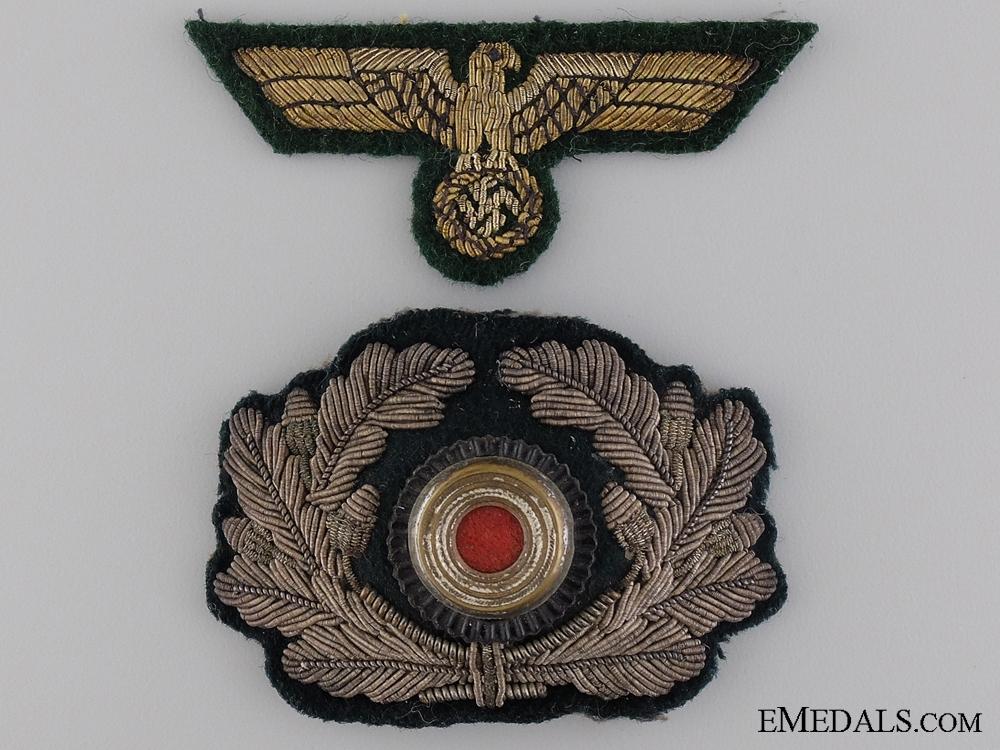 eMedals-Coastal Artillery Officers Visor Wreath and Cap Eagle