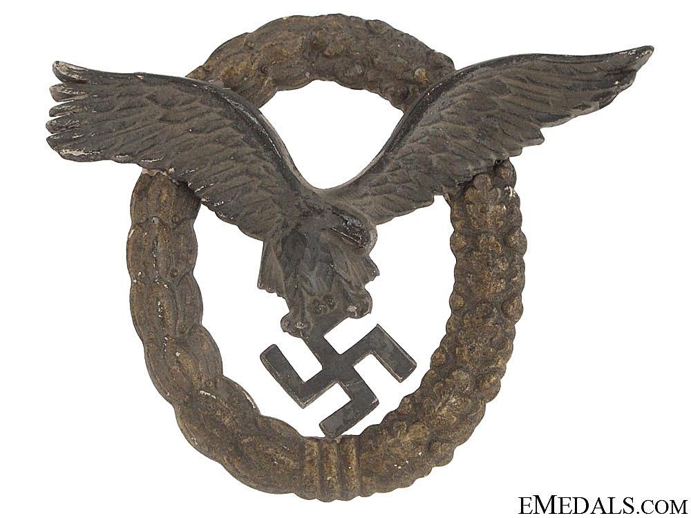 eMedals-Combined Pilot's/Observers Badge – Late War