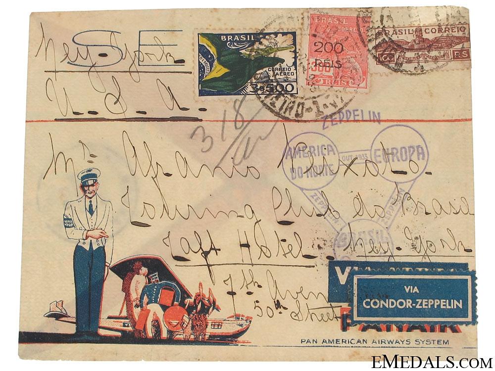 eMedals-Condor Zeppelin Air Mail Envelope 1933