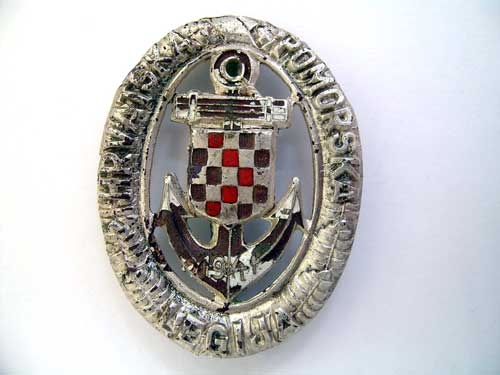 eMedals-CROATIAN NAVAL LEGION BADGE WW II