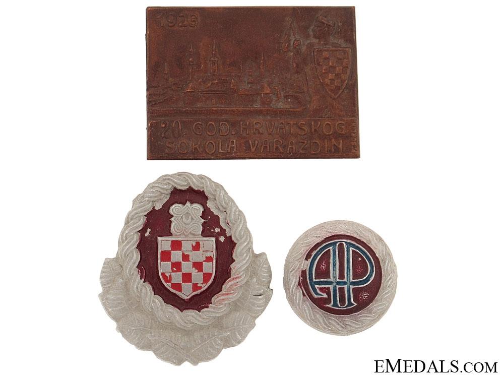 eMedals-Three Croatian Items