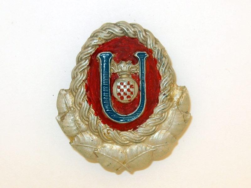 eMedals-Ustasha Officer's Cap Badge,