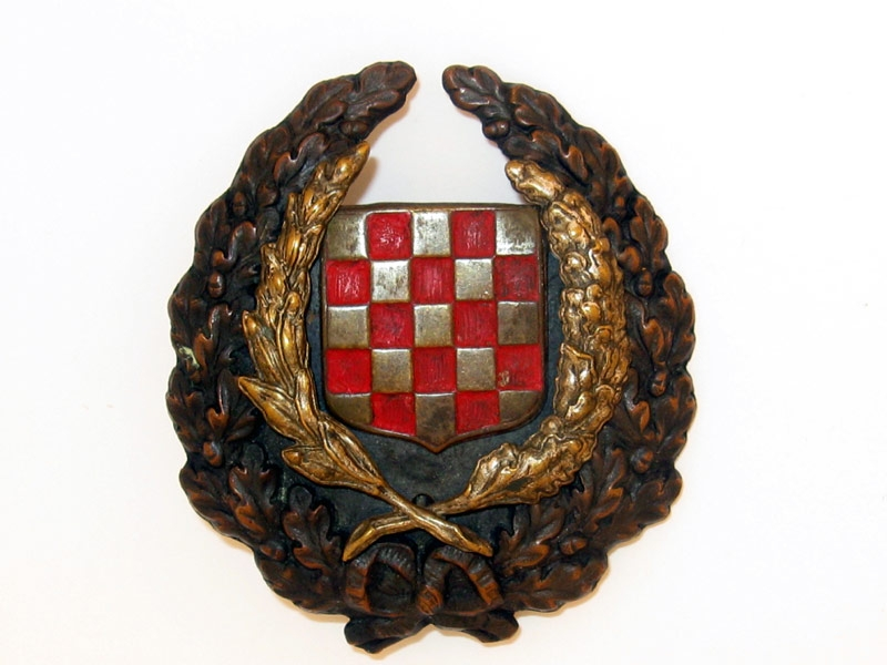 eMedals-Early Croatian Army Officer's Cap Badge,