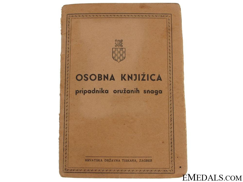 eMedals-Croatian Army Wehrpass/ID