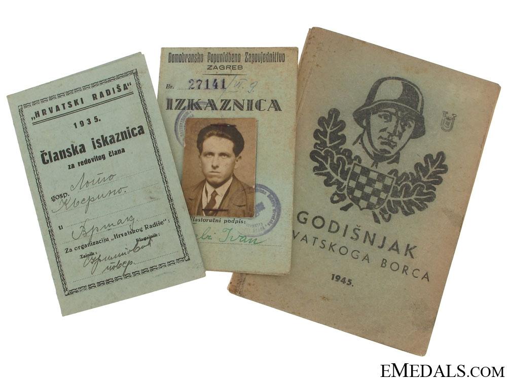 eMedals-Croatian ID's + 1945 Calendar/booklet