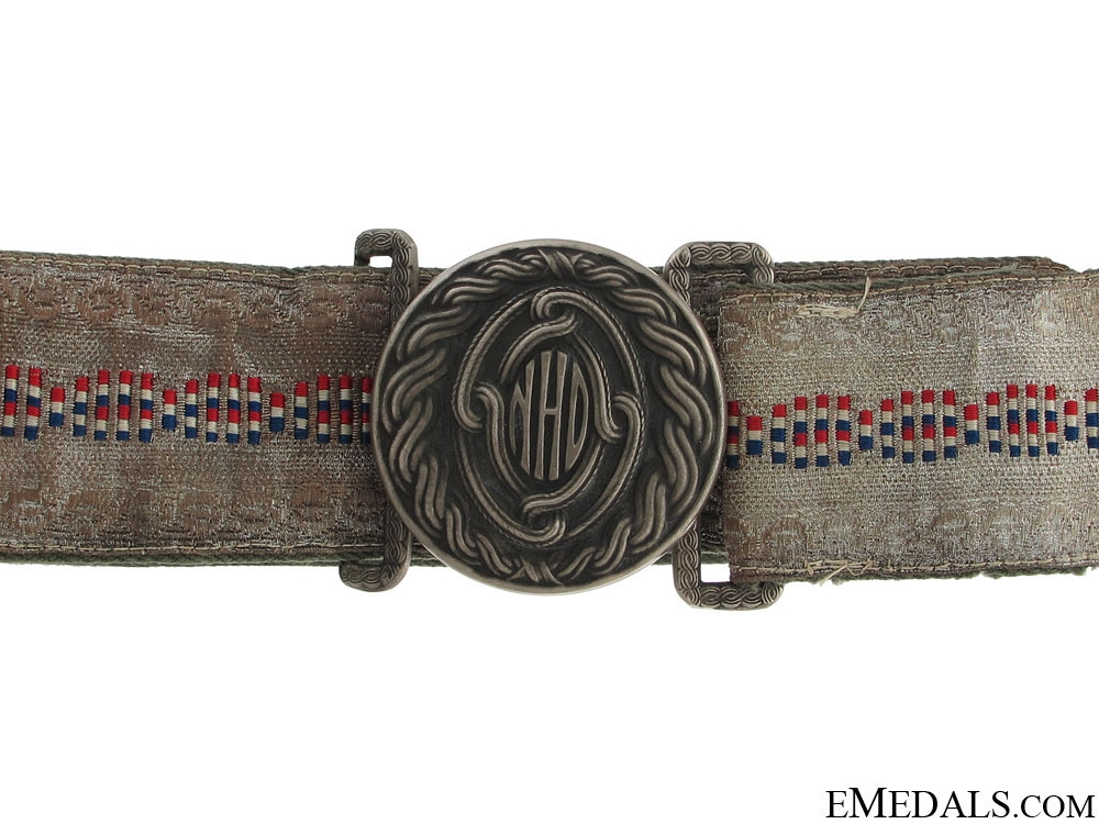 eMedals-Croatian Officer's Air force Belt & Buckle