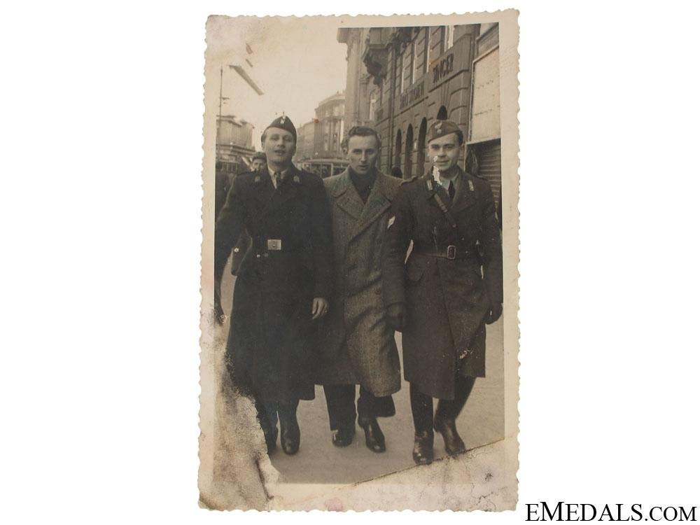 eMedals-Croatian Photo of Ustasha and Italian NCO's