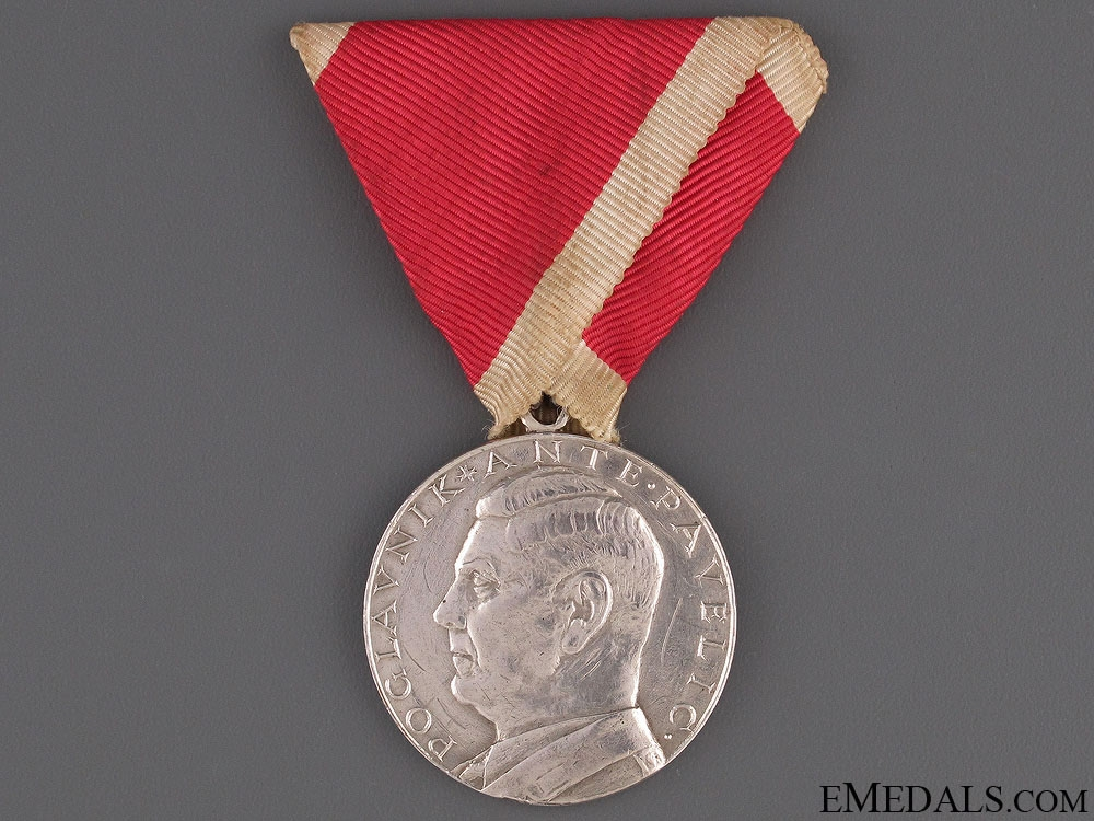 eMedals-Croatian Silver Bravery Medal  WWII