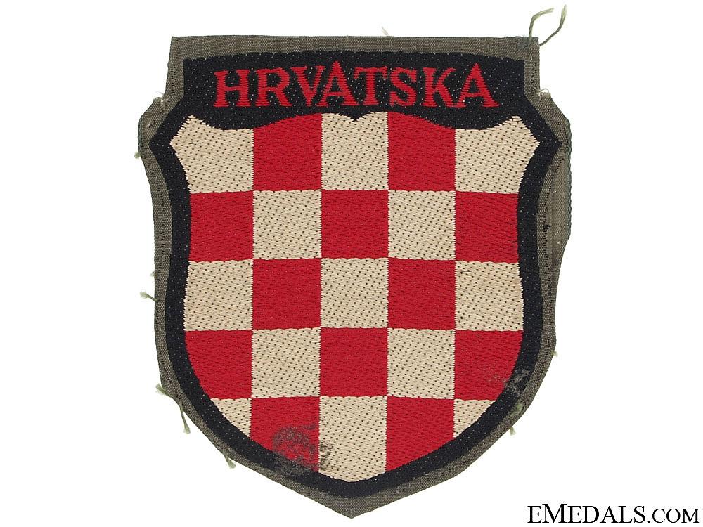 "eMedals-Croatian Volunteer Shield ""¢�HRVATSKA""¢�"
