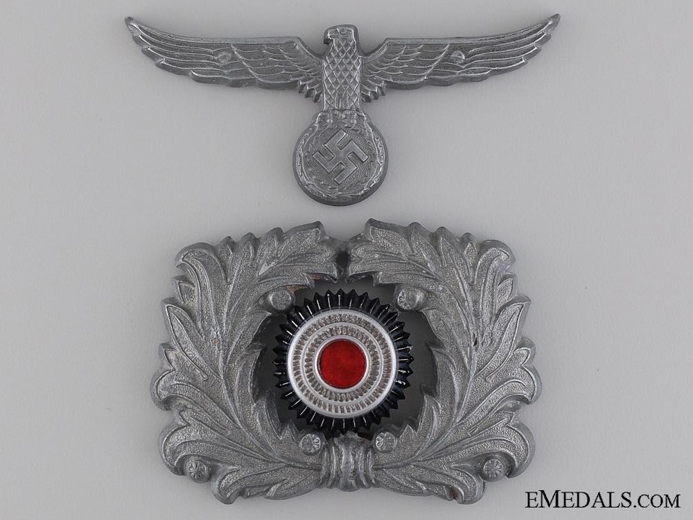 eMedals-Custom Official's Visor Wreath and Cap Eagle