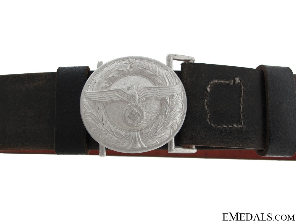 eMedals-Customs & Border Protection Leader's Buckle with Belt