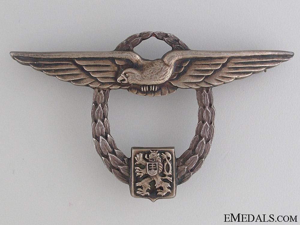 eMedals-Czechoslovakian Air Force – Civil Pilot Badge