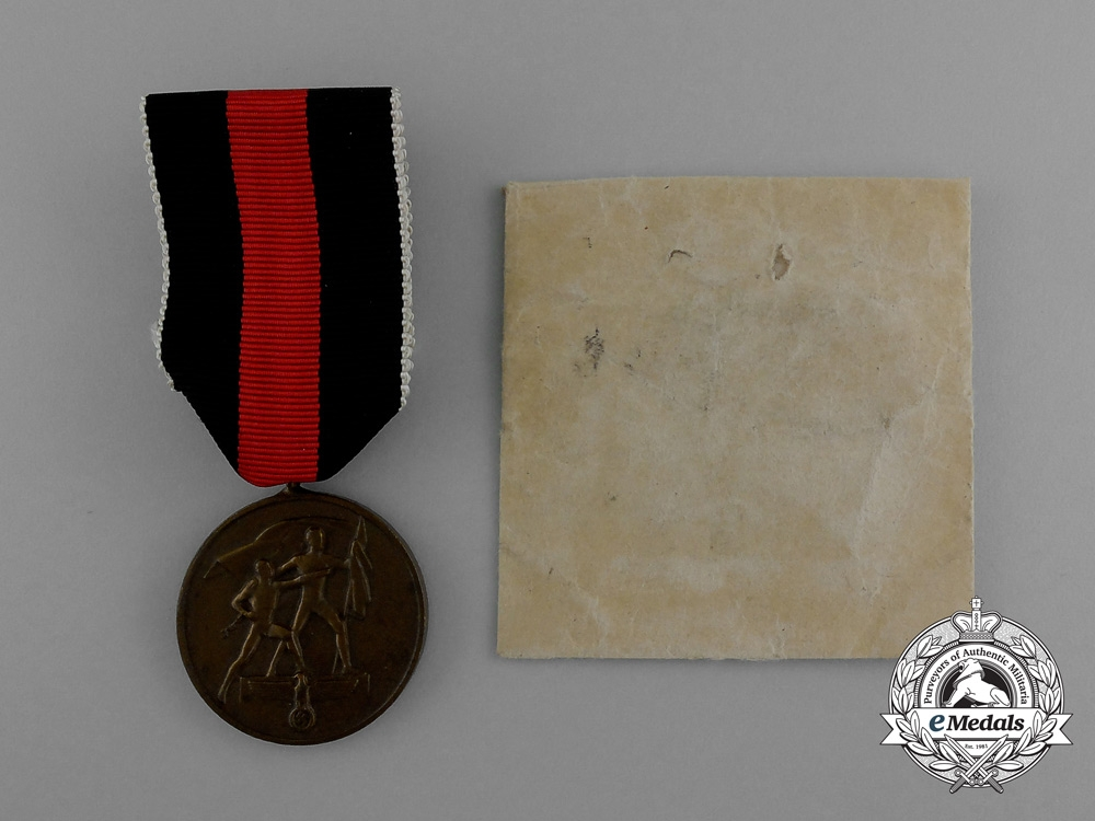eMedals-A Commemorative Austrian Anschluss Medal in its Original Packet of Issue