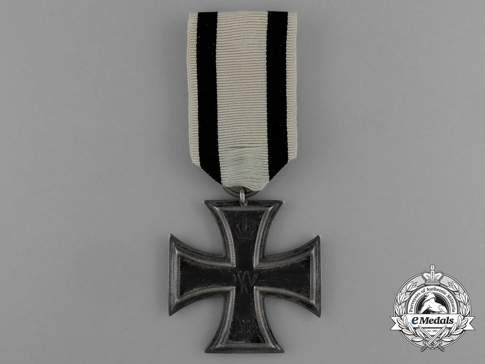 "eMedals-An Iron Cross 1914 Second Class with Period Original Non-Combatant Ribbon by Unknown Maker ""F"""