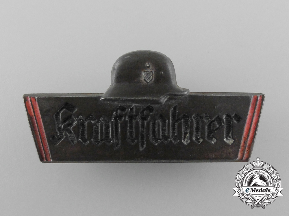 eMedals-A Third Reich Period Truck Driver's Identification Badge