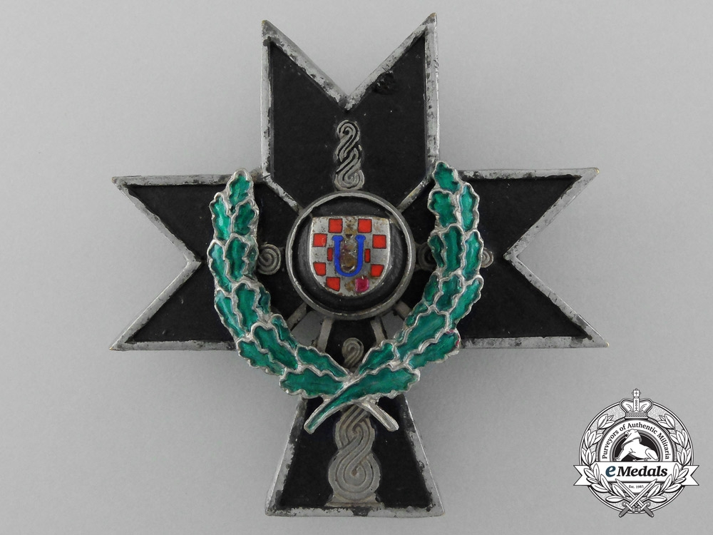 eMedals-Croatia. An Order of the Iron Trefoil 1941-1945, 2nd Class with Oak Leaves, c.1941