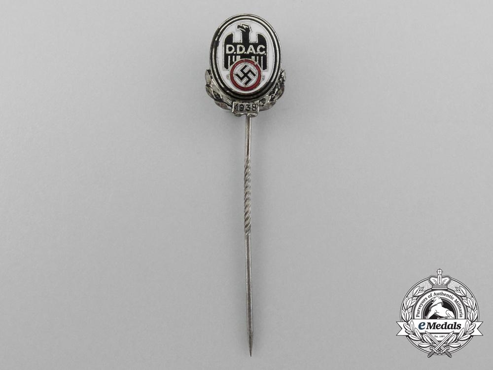 eMedals-A 1938 D.D.A.C German Automobile Club Membership Stick Pin