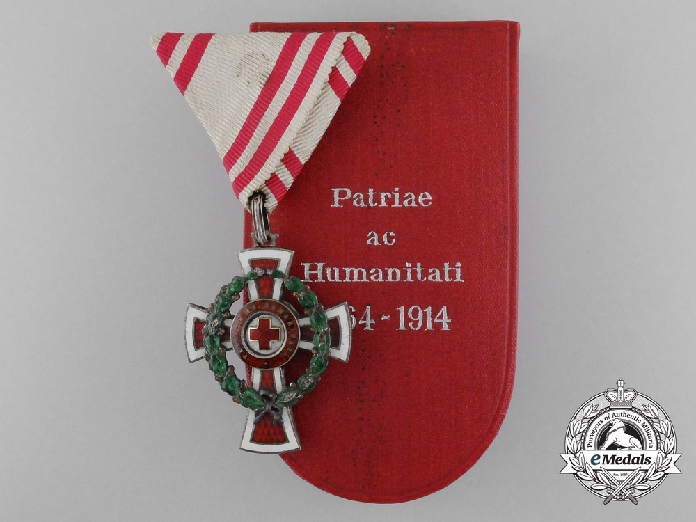 eMedals-An Austrian Red Cross Honour Decoration in Case