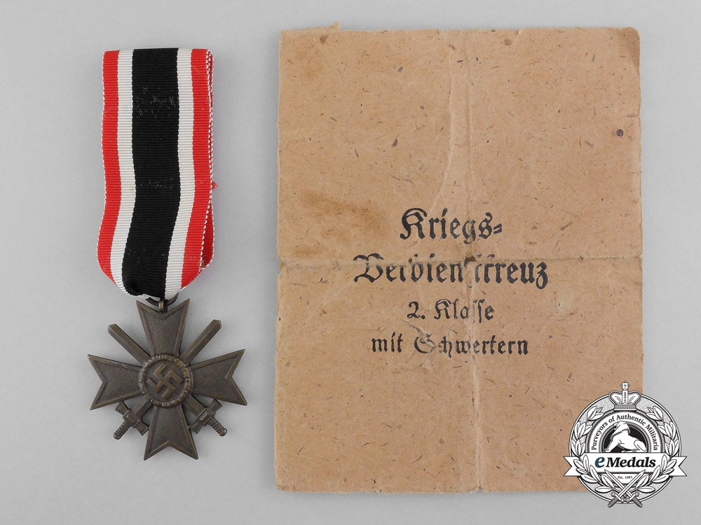 eMedals-A Second Class War Merit Cross with Swords in original Packet of Issue by Friedrich Orth