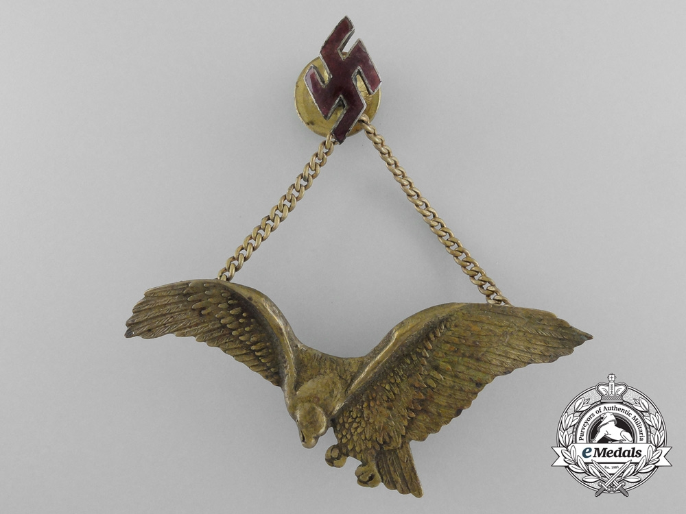 eMedals-Latvia. A Scarce 1935 Air Regiment Officer's Badge by Raft Elders Riga