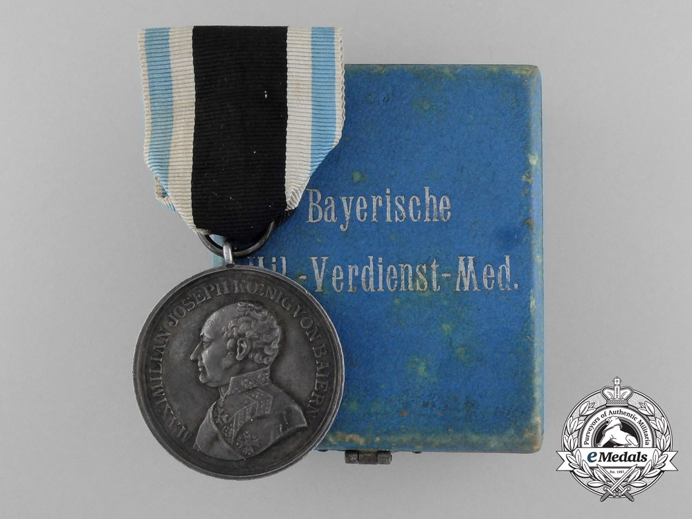 eMedals-A Bavarian Military Merit Medal with Case Awarded to the 2nd Jäger Battalion; Alpenkorps