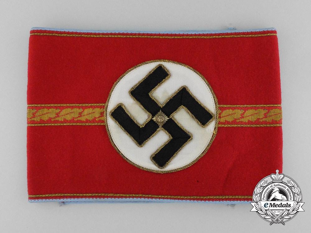 eMedals-A NSDAP Ortsgruppe/Zellenleiter and Haubtbetriebsobermann Armband; RZM Tagged