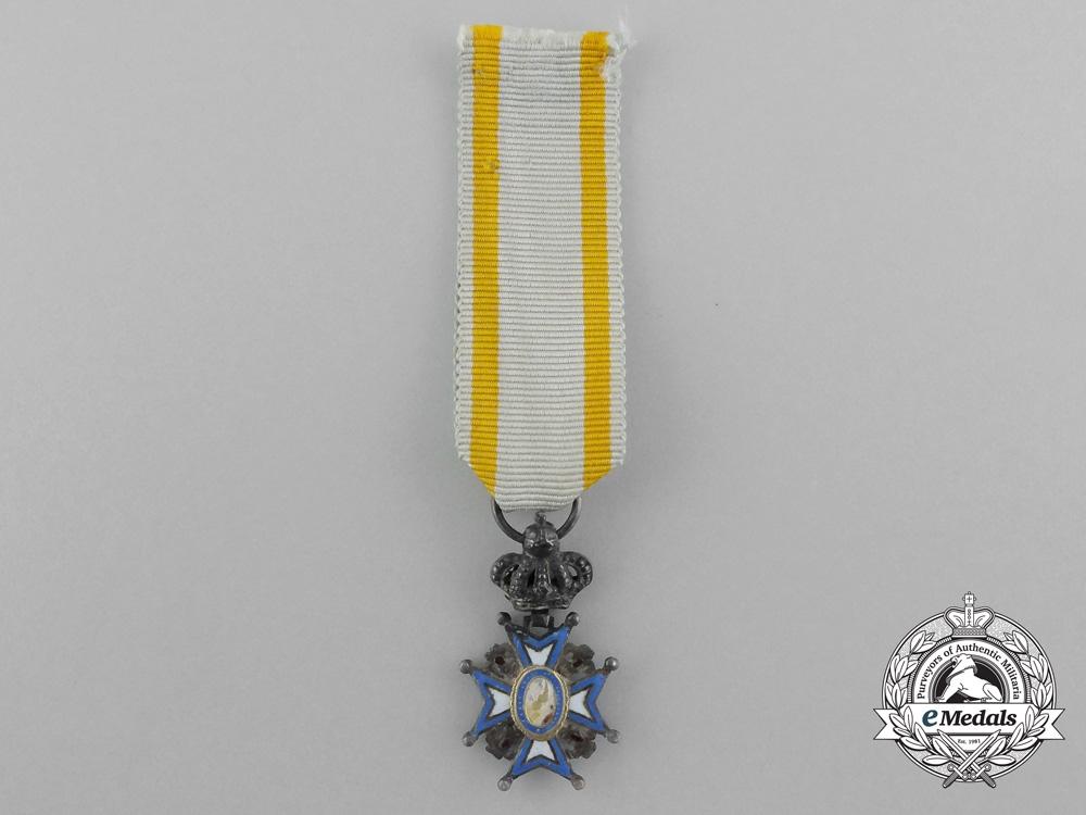 eMedals-A Miniature Serbian Order of St. Sava; First Model (1882-1903)