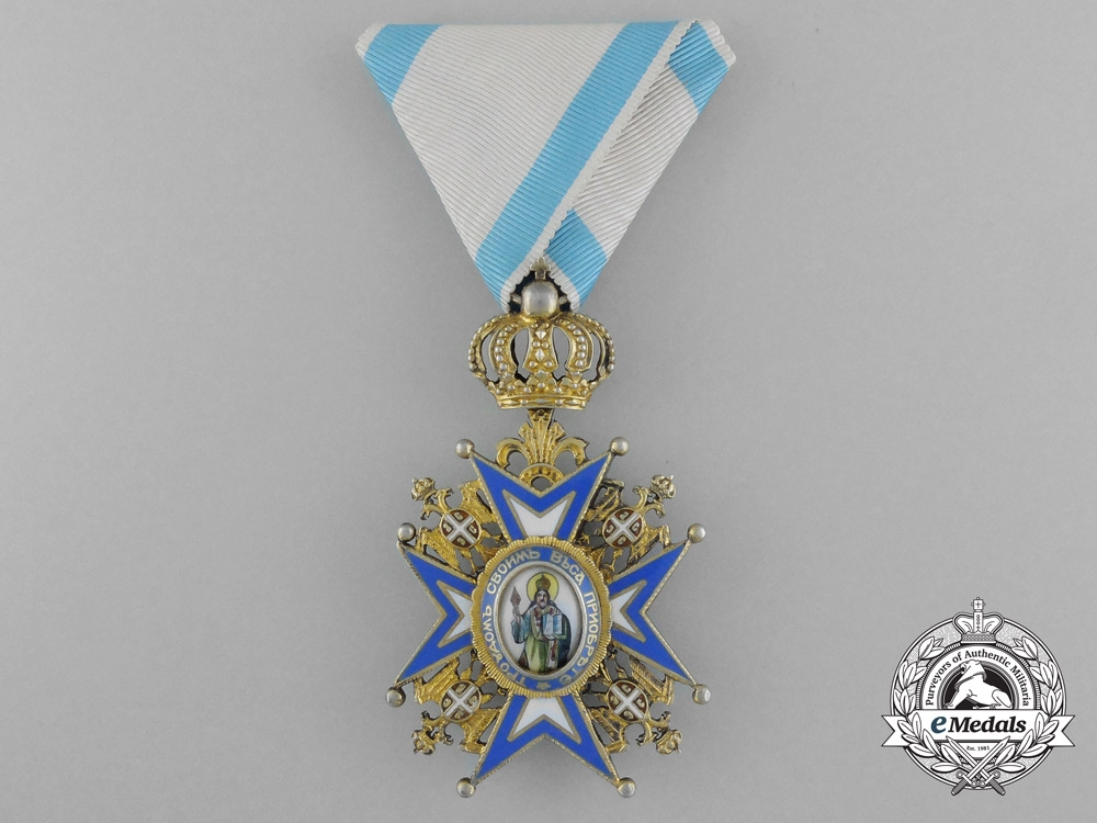 eMedals-A Serbian Order of St. Sava; Officer, Fourth Class