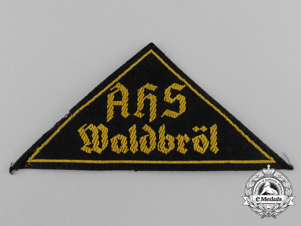 "eMedals-An HJ ""Adolph Hitler School""   Sleeve Insignia"