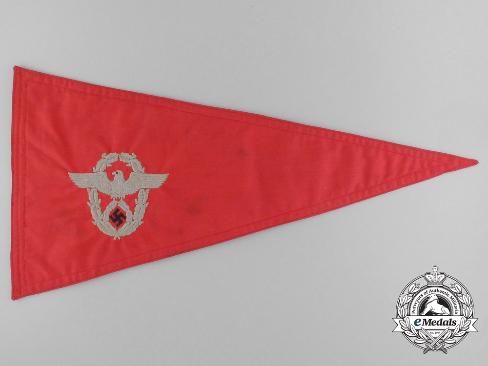 eMedals-A German Fire Protection Police Pennant