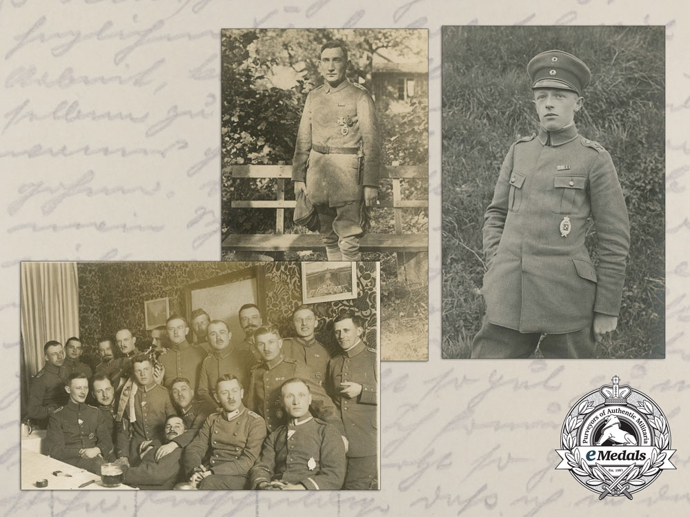 eMedals-Three Picture Postcard of Bavarian and Prussian Airmen