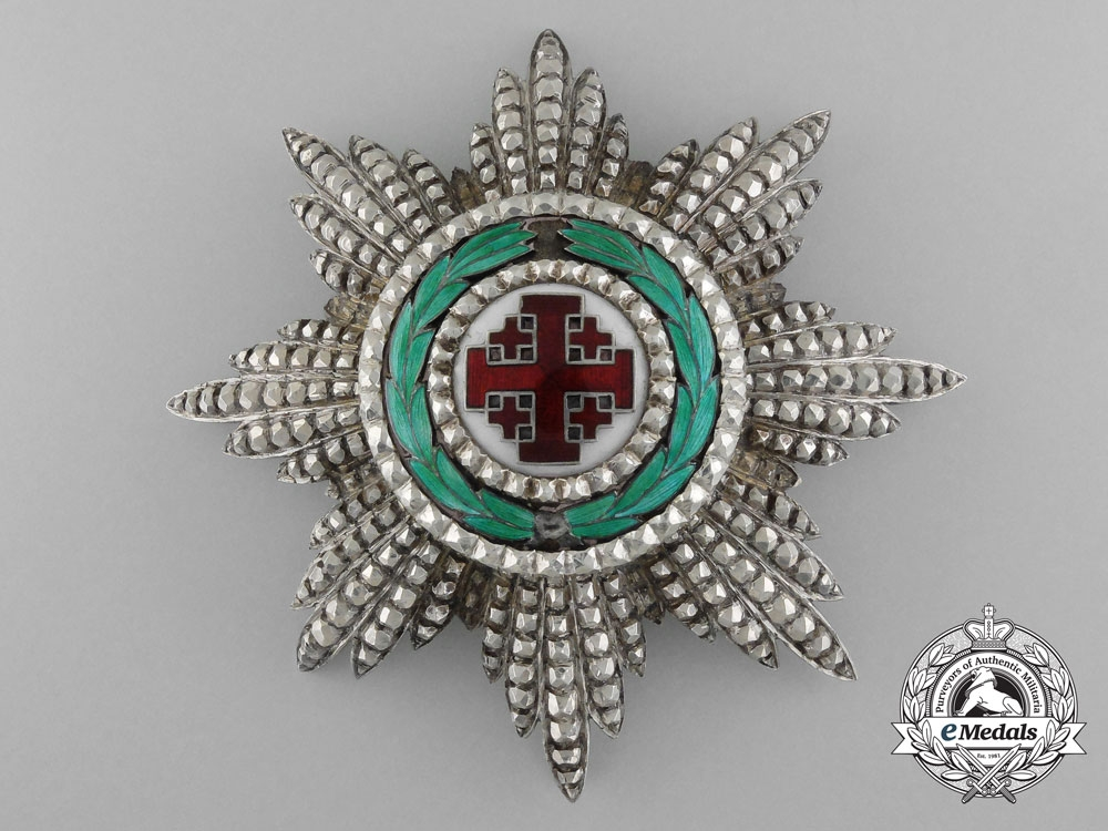 eMedals-An Order of the Holy Sepulchre; Breast Star by Godet, Berlin,